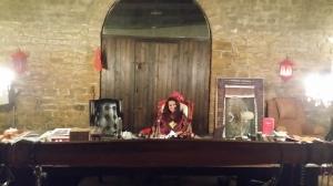 red chair- desk-chandeliers-door to me!!!!