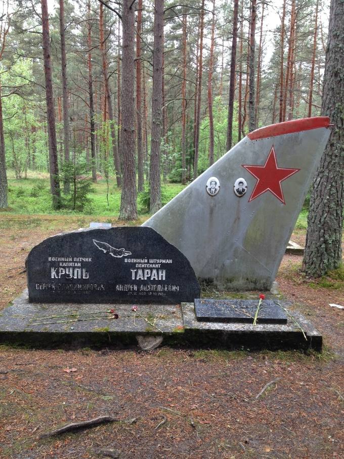 "A hidden cemetary for Soviet-era trainee pilots. Most epitaphs read: ""Died serving duty."" The average age was 17."